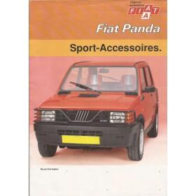 Fiat Panda brochure 6 pagina's 1985 met gebruikssporen Nederlands