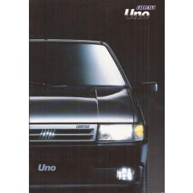 Fiat Uno brochure 36 pagina's 1991 met gebruikssporen Nederlands