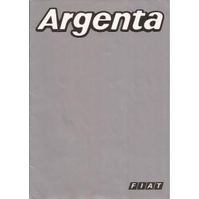 Fiat Argenta brochure 16 pagina's 1981 met gebruikssporen Nederlands