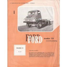 Ford vrachtwagen Trader brochure 2 pagina's Benzine/Diesel Fabrikant 1960 met gebruikssporen   Nederlands