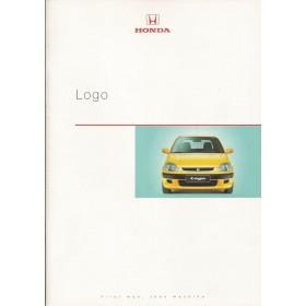Honda Logo brochure 24 pagina's 99 met gebruikssporen Nederlands