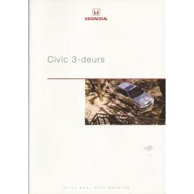 Honda Civic 3-deurs brochure 24 pagina's 99 met gebruikssporen Nederlands