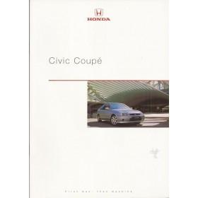 Honda Civic Coupe brochure 24 pagina's 99 met gebruikssporen Nederlands