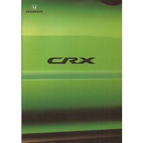 Honda CRX brochure 28 pagina's 99 met gebruikssporen Nederlands