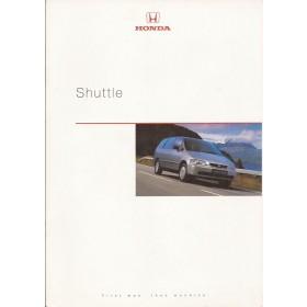 Honda Shuttle brochure 20 pagina's 98 met gebruikssporen Nederlands