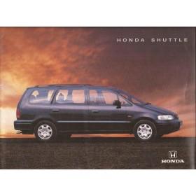 Honda Shuttle brochure 20 pagina's 95 met gebruikssporen Nederlands