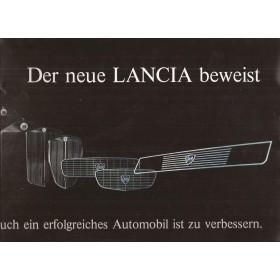 Lancia Beta Berlina brochure 16 pagina's 75 met gebruikssporen Duits
