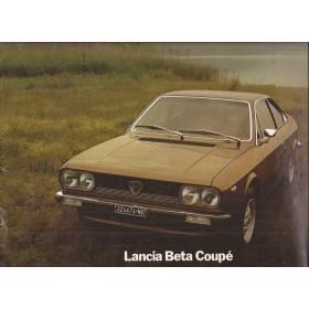 Lancia Beta Coupe brochure 16 pagina's 77 met gebruikssporen Engels/Duits/Frans/Italiaans