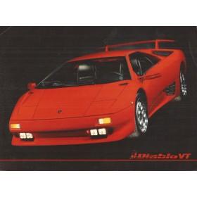 Lamborghini Diablo VT brochure 2 pagina's Benzine Fabrikant ca 1994 met gebruikssporen Engels