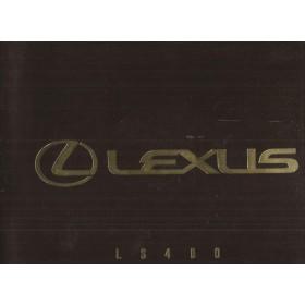 Lexus LS400 brochure 32 pagina's 91 met gebruikssporen Nederlands