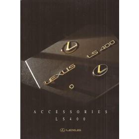 Lexus LS400 accessoirebrochure 20 pagina's 97 met gebruikssporen Engels