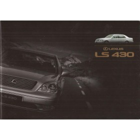 Lexus LS430 brochure 28 pagina's 01 met gebruikssporen Engels