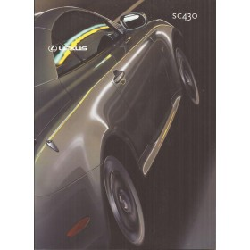 Lexus SC430 brochure 66 pagina's 01 met gebruikssporen Nederlands
