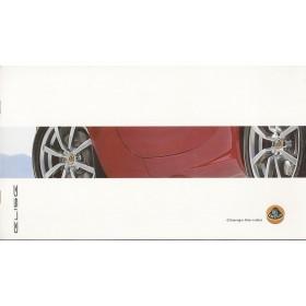 Lotus Elise brochure 12 pagina's Benzine Fabrikant 03 met gebruikssporen Engels