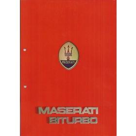 Maserati Biturbo brochure 8 pagina's 85 met gebruikssporen Nederlands