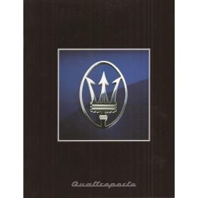 Maserati Quattroporte brochure 10 pagina's 95 met gebruikssporen Engels