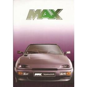 MAX Roadster brochure 4 pagina's 90 met gebruikssporen Nederlands