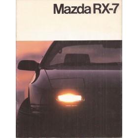 Mazda RX7 brochure 24 pagina's 86 met gebruikssporen Nederlands