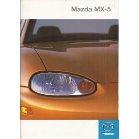 Mazda MX5 brochure 28 pagina's 99 met gebruikssporen Duits