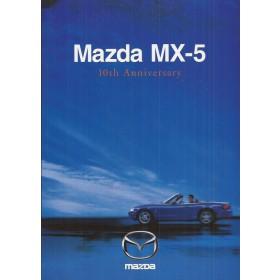 Mazda MX5 brochure 10th anniversary 16 pagina's 99 met gebruikssporen Duits