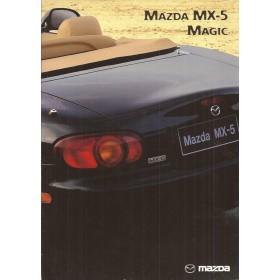 Mazda MX5 brochure Magic 6 pagina's 99 met gebruikssporen Duits
