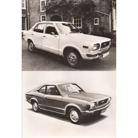 Mazda 818 Originele persfoto's Benzine Fabrikant 1972 met gebruikssporen