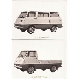 Mazda F800 Originele persfoto's Benzine Fabrikant 1966 met gebruikssporen
