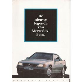Mercedes SL (R129) brochure 4 pagina's 90 met gebruikssporen Nederlands