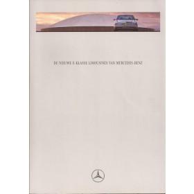 Mercedes E-klasse (W210) brochure 60 pagina's 95 met gebruikssporen Nederlands
