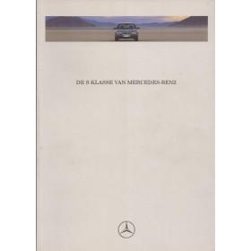 Mercedes S-klasse (W140) brochure 60 pagina's 91 met gebruikssporen Nederlands
