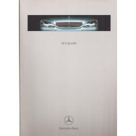 Mercedes S-klasse (W220) brochure 86 pagina's 99 met gebruikssporen Nederlands