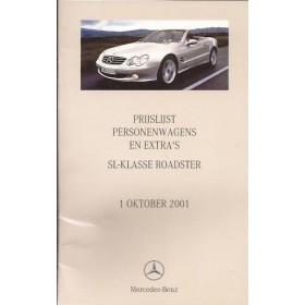Mercedes SL (R230) prijslijst 24 pagina's 01 met gebruikssporen Nederlands