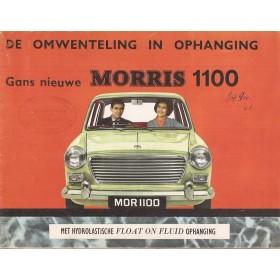 Morris 1100 brochure 12 pagina's 1962 met gebruikssporen Nederlands