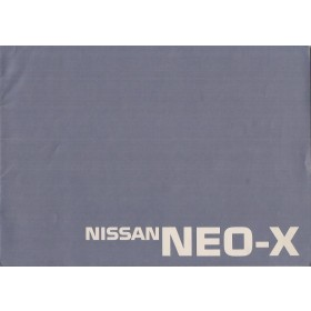 Nissan NEO-X studiemodel brochure 36 pagina's 1989 met gebruikssporen Engels