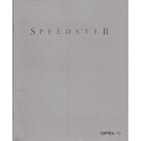 Opel Speedster brochure 28 pagina's Benzine Fabrikant 2000 ongebruikt Nederlands