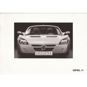 Opel Speedster brochure 8 pagina's Benzine Fabrikant 00 ongebruikt Nederlands