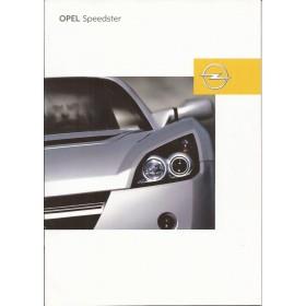 Opel Speedster brochure 28 pagina's Benzine Fabrikant 02 ongebruikt Nederlands
