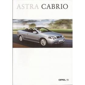 Opel Astra Cabriolet brochure 28 pagina's Benzine Fabrikant 02 ongebruikt Nederlands