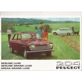 Peugeot 204 brochure 12 pagina's 1969 met gebruikssporen Frans