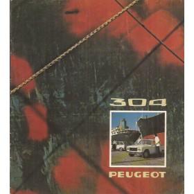 Peugeot 304 brochure 12 pagina's 1974 met gebruikssporen Nederlands