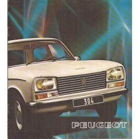 Peugeot 304 brochure 12 pagina's 1975 met gebruikssporen Nederlands