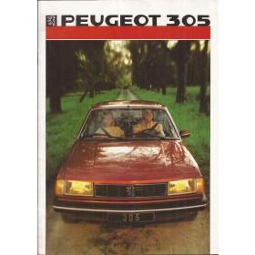 Peugeot 305 brochure 28 pagina's 1986 met gebruikssporen Nederlands