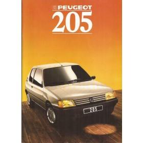Peugeot 205 brochure 32 pagina's 1988 met gebruikssporen Duits