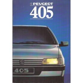 Peugeot 405 brochure 36 pagina's 1988 met gebruikssporen Nederlands