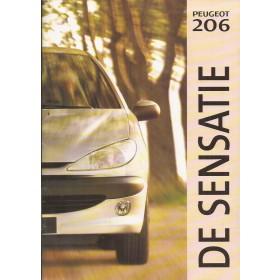 Peugeot 206 brochure 38 pagina's 1998 met gebruikssporen Nederlands