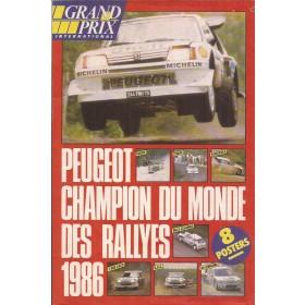 Peugeot 205 8 posters 32 pagina's 1986 met gebruikssporen Frans