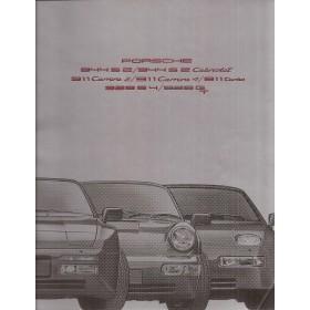 Porsche 911 928 944 brochure 24 pagina's 1990 met gebruikssporen vouwtje in kaft Nederlands