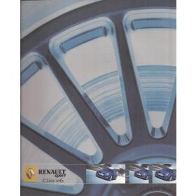 Renault Clio V6 phase 2 brochure 20 pagina's Benzine Fabrikant 2004 ongebruikt Nederlands