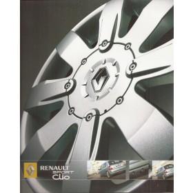 Renault Clio RS182 brochure 24 pagina's Benzine Fabrikant 05 ongebruikt Nederlands