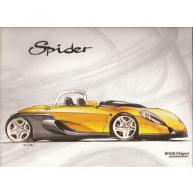 Renault Spider brochure 32 pagina's Benzine Fabrikant april 96 met gebruikssporen Frans/Engels